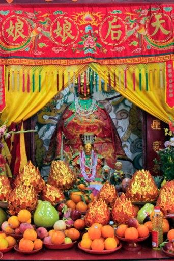 Altar do Tin Hau Temple, em Stanley