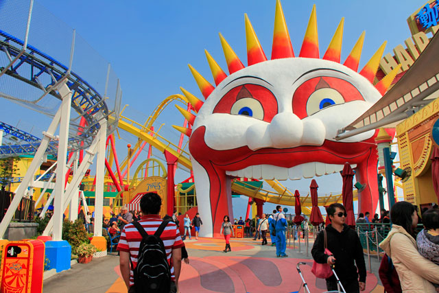 Área Thrill Mountain, no setor The Summit do Ocean Park