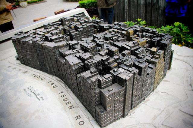 Maquete da Cidade Murada de Kowloon, no Kowloon Walled City Park