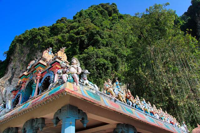Decoração de templo hindu, em Batu Caves