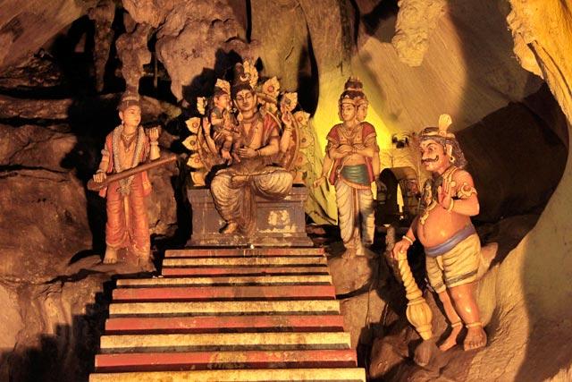 Decoração de um dos santuários da Temple Cave