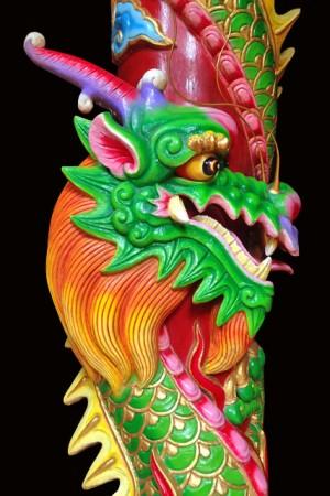 Detalhe da decoração do Guan Di Temple