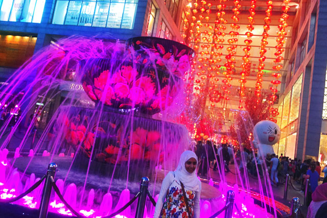 Crystal Fountain do Pavilion Mall, em Bukit Bintang