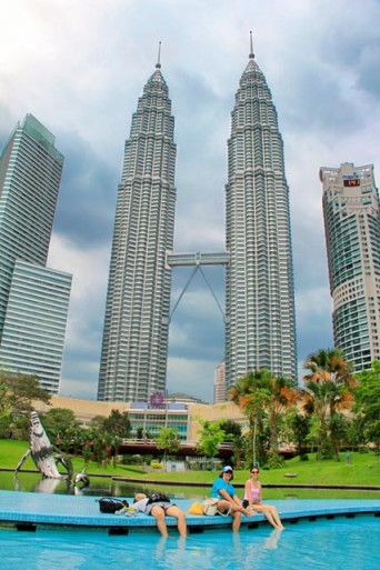 Petronas vistas do KLCC Park