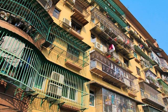 Fachada de edifício em Macau