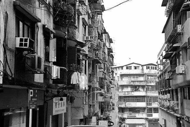 Fachadas desorganizadas de Macau