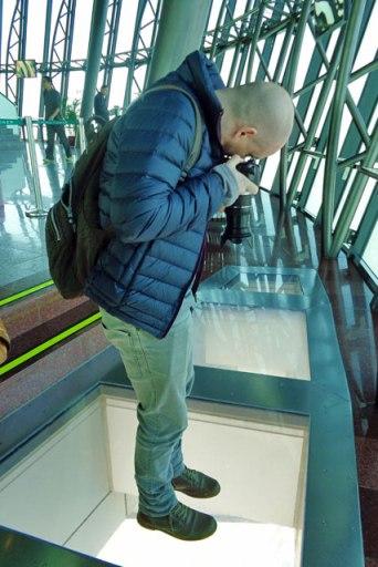 Piso de vidro do observatório da Torre de Macau