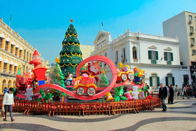 Decoração de Natal no Largo do Senado