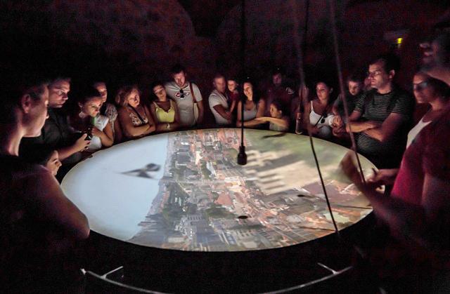 Câmera Obscura, no Castelo de São Jorge. (Foto: www.castelodesaojorge.pt)