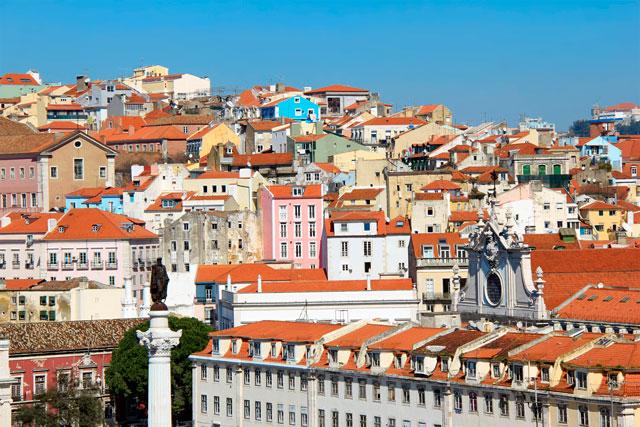 Lisboa vista do Elevador de Santa Justa.