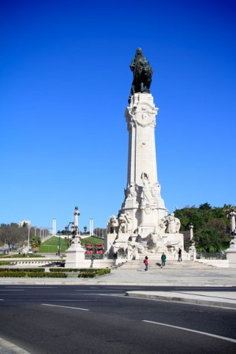 Praça Marquês de Pombal, com Parque Eduardo VII ao fundo