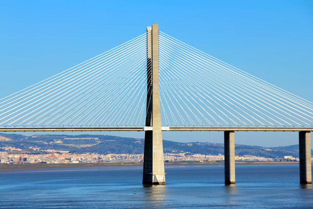 Ponte Vasco da Gama, vista do teleférico
