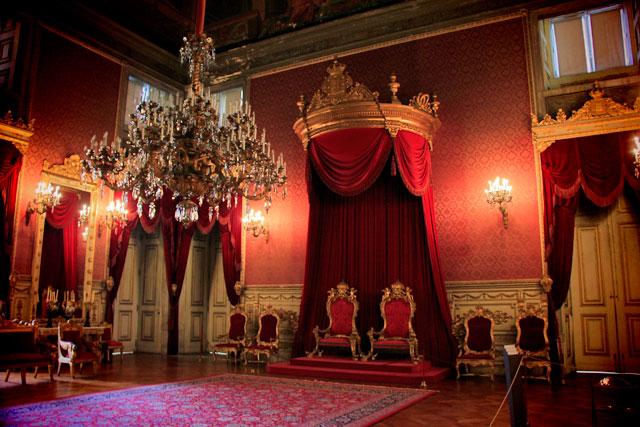 Sala do Trono, no Palácio Nacional da Ajuda