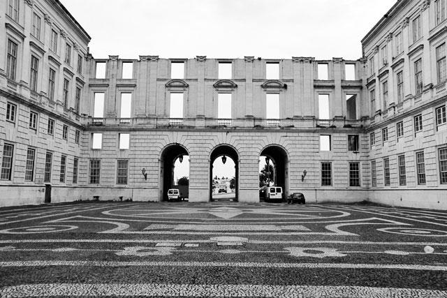 Fachada interior do Palácio Nacional da Ajuda