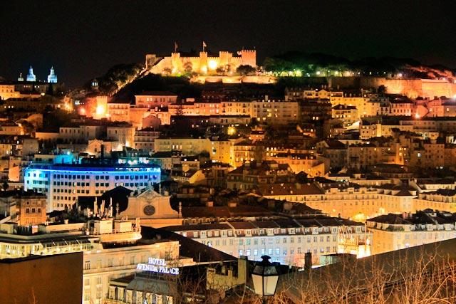 Lisboa vista do Miradouro São Pedro de Alcântara