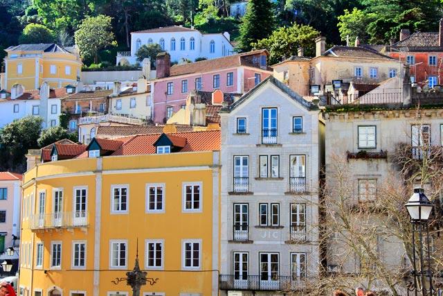 Edificações do centro histórico de Sintra
