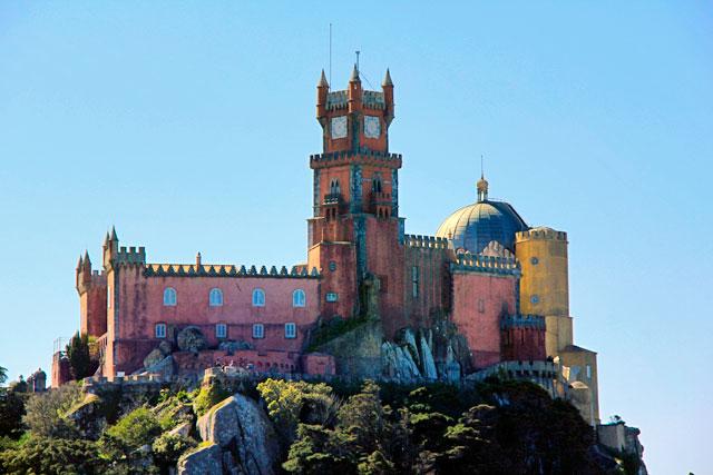 Palácio da Pena visto do Castelo dos Mouros