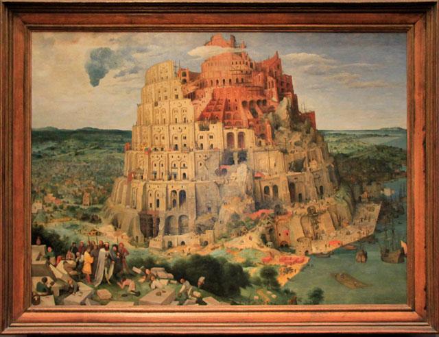 A Torre de Babel, do artista belga Pieter Brueghel o Velho, exposta no Kunsthistorishes Museum