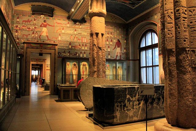Sala da Coleção Egípcia e do Oriente Próximo, no Kunsthistorishes Museum