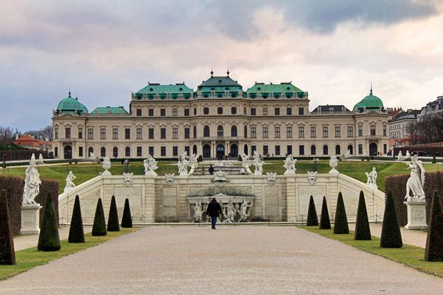 Oberes Belvedere, no Schloss Belvedere