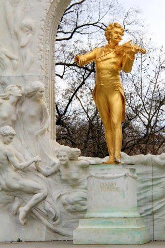 Monumento a Johann Strauss, no Stadtpark