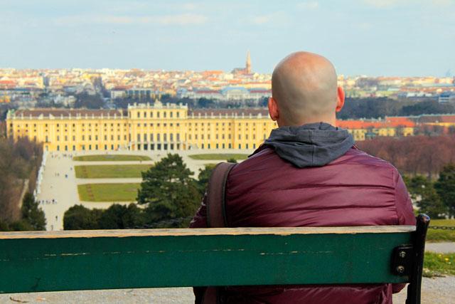 Schloss Schönbrunn, visto do alto da colina