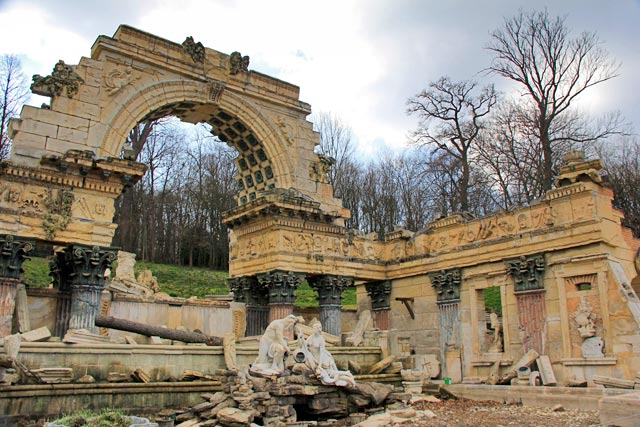 Römische Ruine, no Schloss Schönbrunn