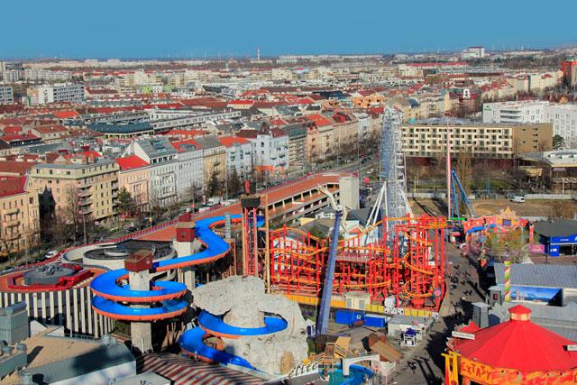 Viena vista da Wiener Riesenrad