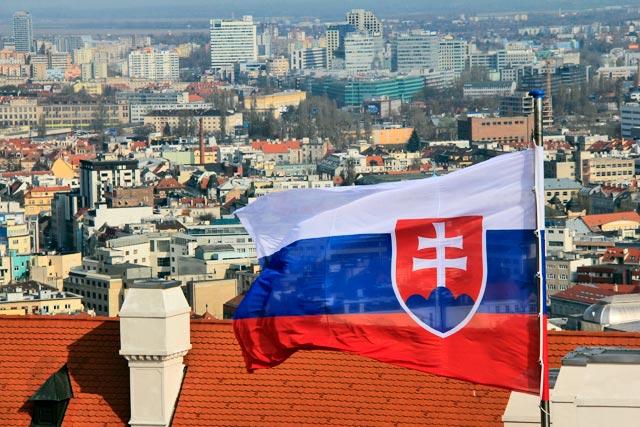 Bratislava vista da Torre da Coroa, no Bratislavský hrad