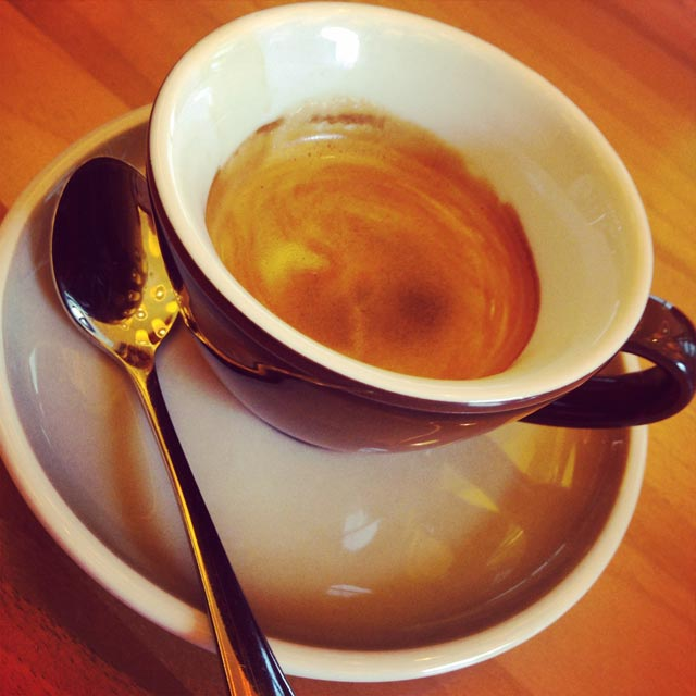 Espresso, no Café de l'Europe