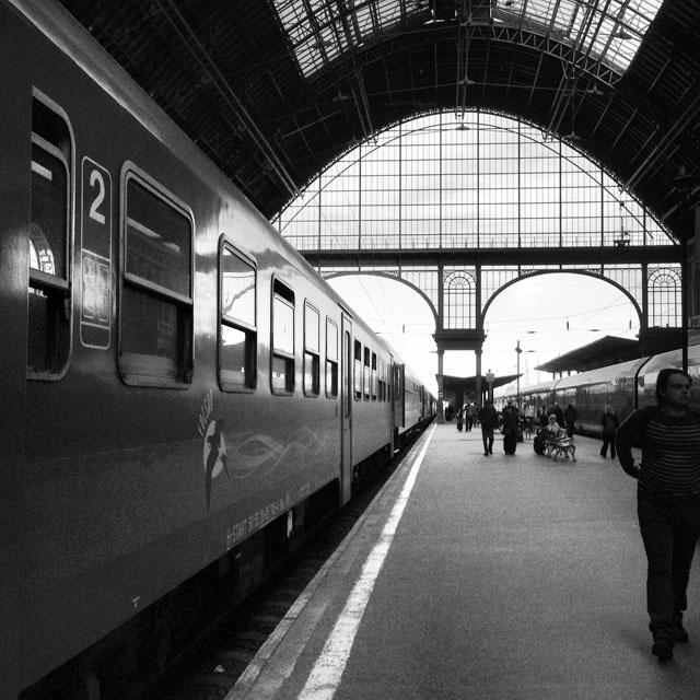 Estação ferroviária Budapest-Keleti (via Instagram)