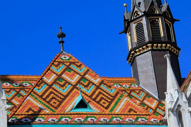 Detalhe do telhado da Igreja de Matias