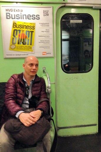 No metrô de Budapeste