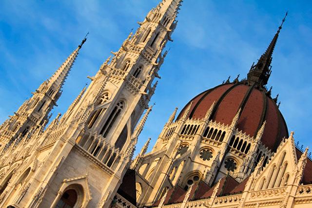 Detalhe do edifício do Parlamento Húngaro