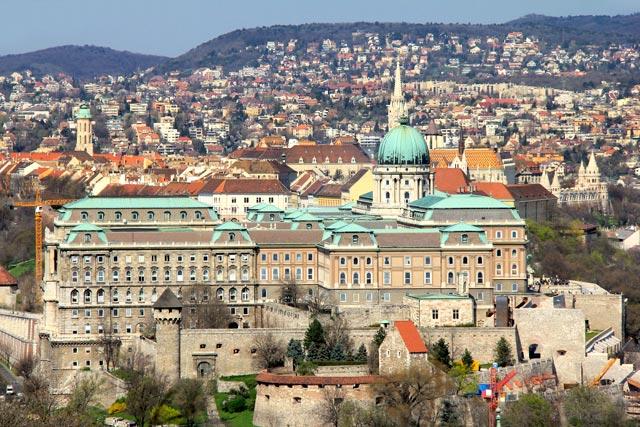 Vista da Colina Gellért. Destaque para o Castelo de Buda
