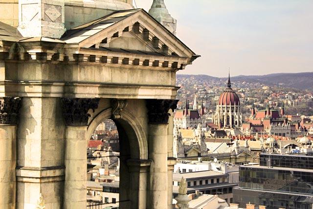 Vista da cúpula da Basílica de Santo Estêvão
