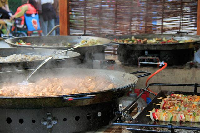Comida servida na feira do Parque Millenáris