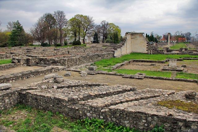 Ruínas de Aquinco, no Aquincumi Múzeum (Museu de Aquinco)