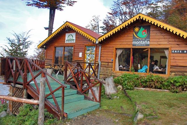 Restaurante Refugio de Montaña, na Glaciar Martial
