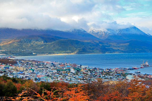 Ushuaia vista do mirante da estrada Luis Fernando Martial