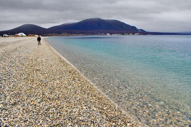 Extremidade leste do Lago Fagnano