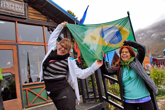 Cintia e Isabel, na estação do Tren del Fin del Mundo
