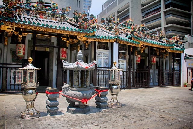 Templo Yueh Hai Ching, no Central Business District