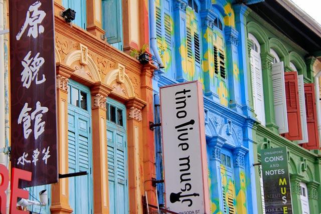 Shophouses da Pagoda Street