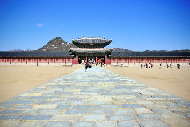 Pátio de entrada do Palácio Gyeongbokgung