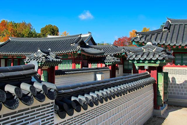 Pavilhões do complexo do Palácio Gyeongbokgung