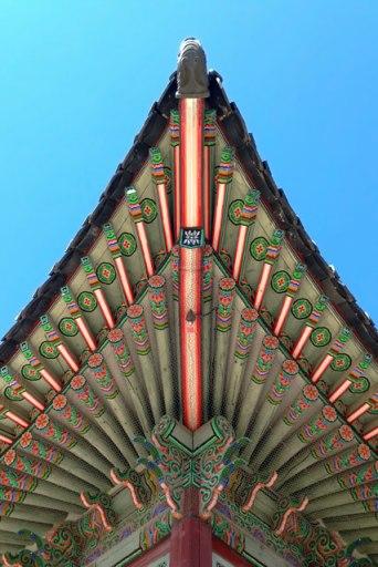 Detalhe de telhado de um dos pavilhões do Palácio Gyeongbokgung