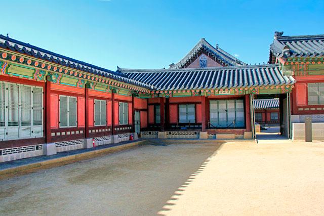 Pavilhão do complexo do Palácio Gyeongbokgung