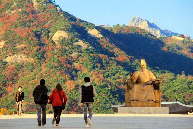 Estátua do Rei Sejong, na Sejong-ro