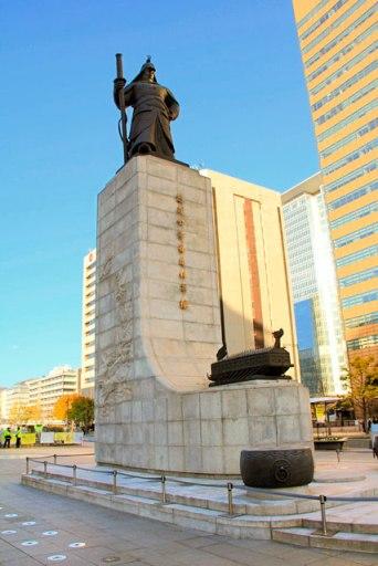 Estátua do Almirante Yi Sun-sin, na Sejongno